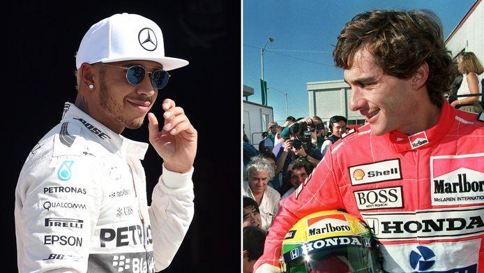 Lewis Hamilton en Ayrton Senna.