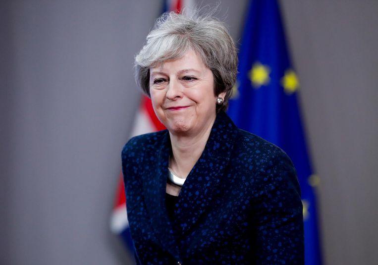 Ja Theresa, dat wordt lachen als een boer met kiespijn Beeld anp