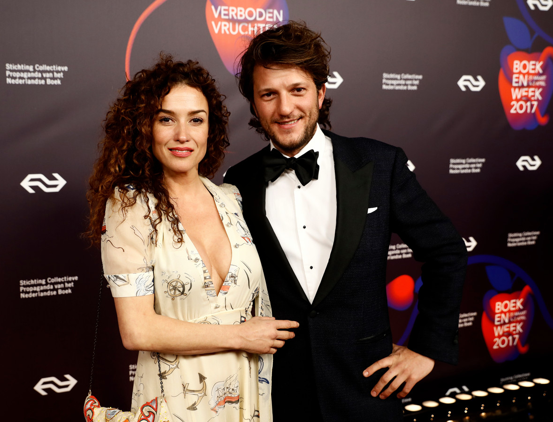 Katja Schuurman en haar partner Freek van Noortwijk.