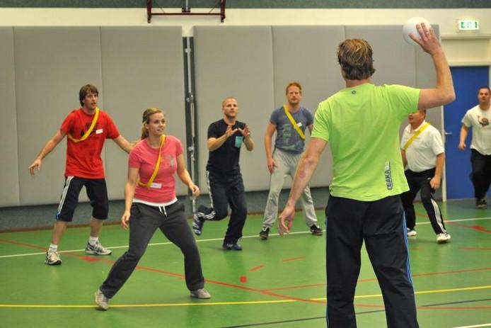 Deelnemers aan de studiedag voor vakleerkrachten bewegingsonderwijs. Archieffoto Suzanne Breman