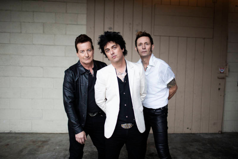 Punkrockband Green Day in 2020: Tré Cool, Billie Joe Armstrong en Mike Dirnt. Beeld HH