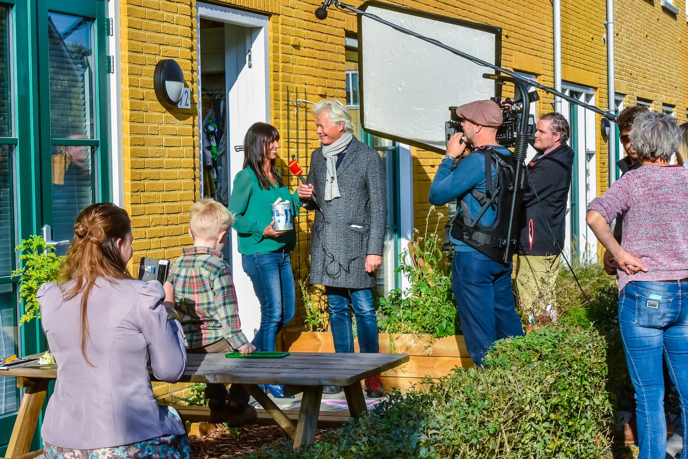 De Planetenbaan in de wijk Sterrenberg was vandaag het decor voor opnames van het Sinterklaasjournaal.