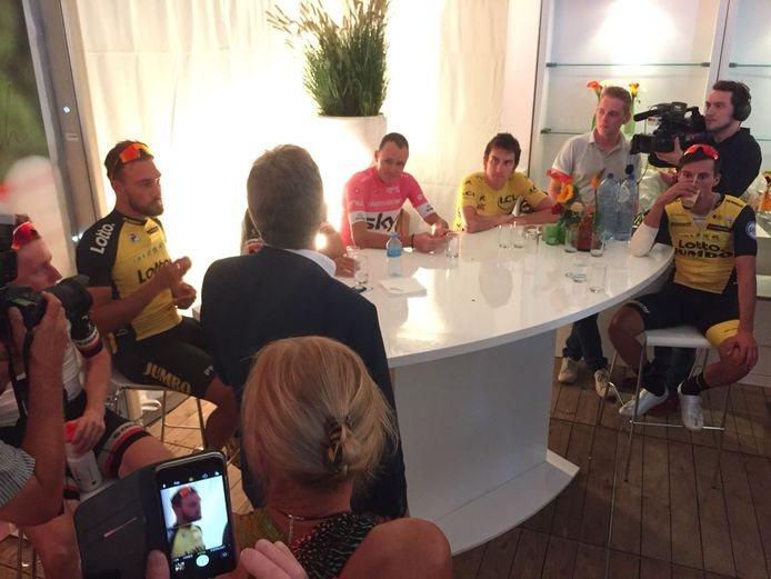 Meet and greet met onder anderen Chris Froome en Geraint Thomas.