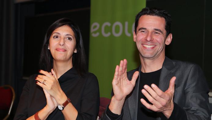 Zakia Khattabi et Jean-Marc Nollet, coprésidents d'Ecolo.