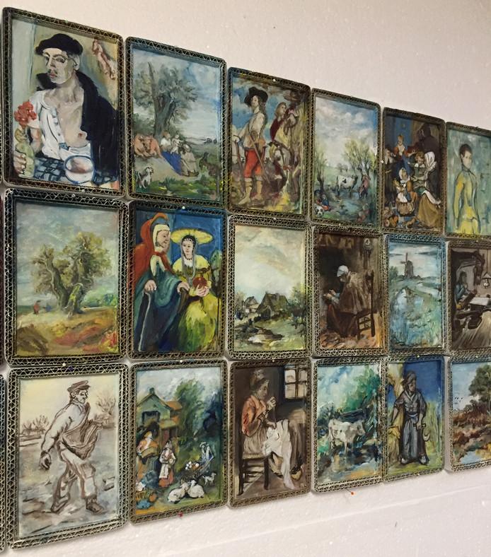 Mimesis M5 heet dit schilderij dat deels  geschilderd is naar de schilderijen die in Het Markiezenhof komen te hangen.