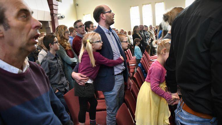 De Gereformeerde Kruiskerk in Waddinxveen. Beeld Marcel van den Bergh / de Volkskrant