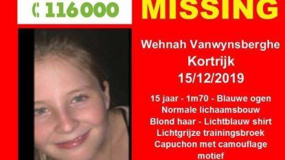 Wehnah Vanwynsberghe (15) vermist in Kortrijk