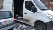 Brand in bestelwagen wellicht aangestoken