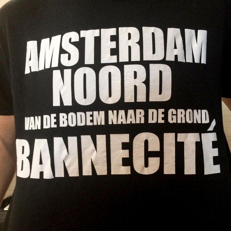 Zelfbedrukt T-shirt met geuzennaam van Bannejeugd Beeld Sofyan Mbarki