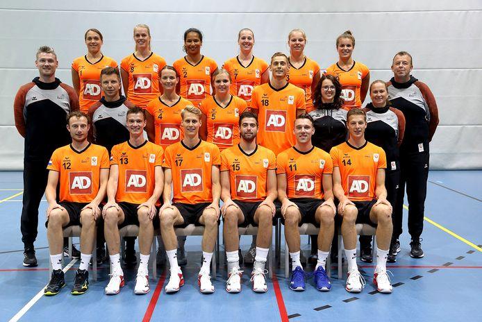De Nederlandse korfbalselectie.
