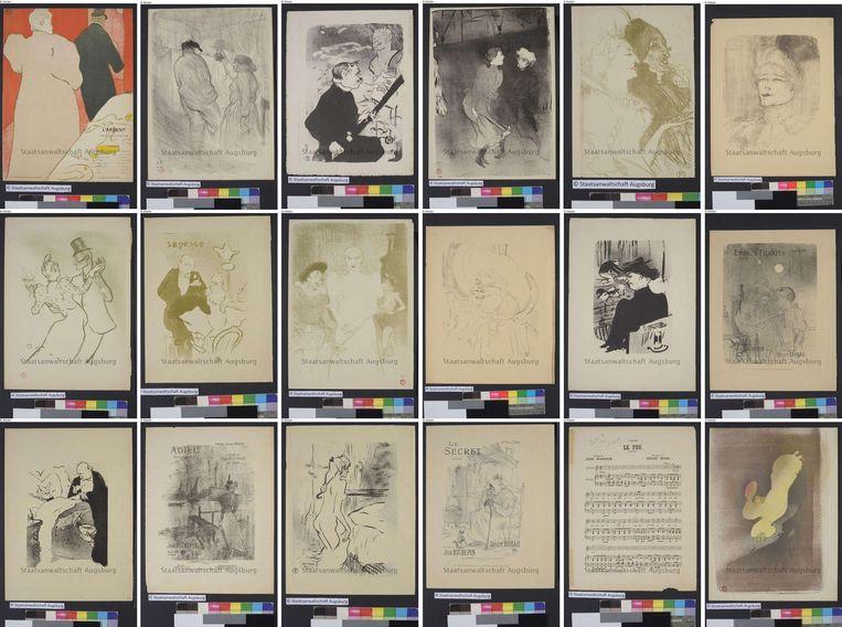 Kunstwerken uit de collectie van Gurlitt. Beeld AFP
