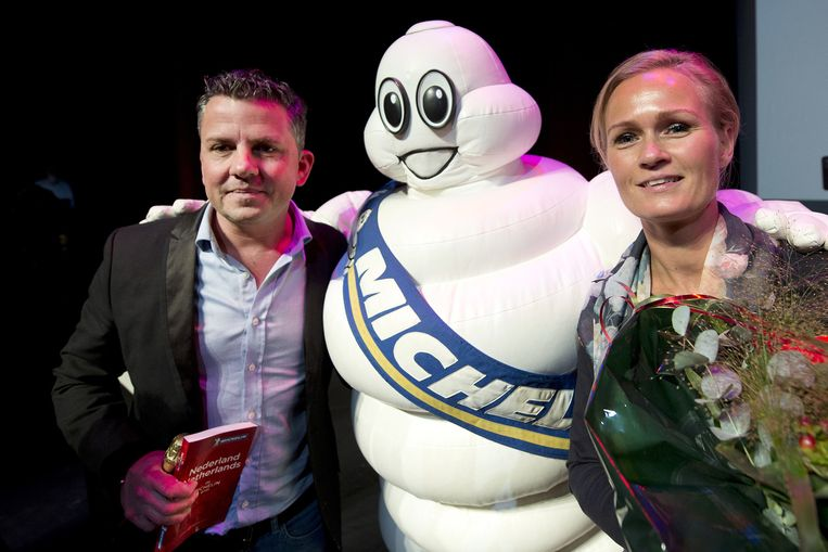 Restaurant Sinne in Amsterdam ontvangt zijn eerste ster, tijdens de presentatie van de nieuwe Michelin Gids 2015 Beeld anp