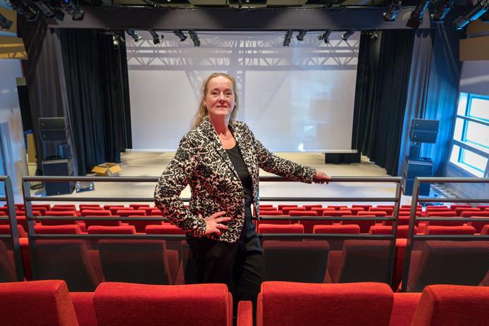 Sylvia Rutten in betere tijden, toen zij in augustus net begon als nieuwe manager van 't Spectrum in Schijndel.