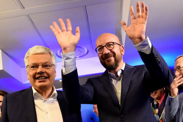 Charles Michel et Didier Reynders peuvent se réjouir: le MR est bien parti pour rester au pouvoir en Wallonie et être de retour aux manettes à Bruxelles pour la première fois depuis 2004.