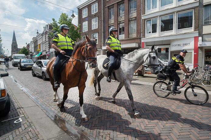 Politieagenten te paard