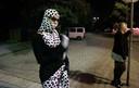 Een prostituee op de laatste avond voordat de tippelzone op de Keileweg werd gesloten in 2005.
