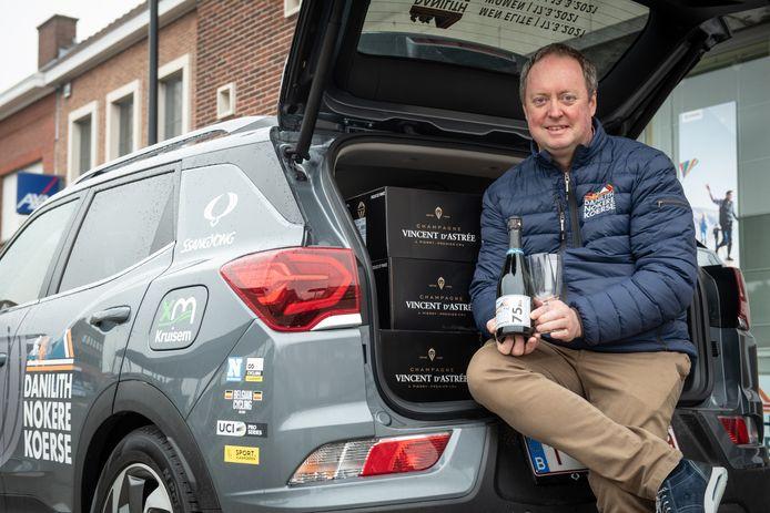"""""""Net als Nokere Koerse is ook onze champagne een kassieker geworden"""", zegt Carl Dedeken."""