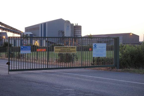 De ingang van het bedrijf waar het drama plaatsvond.