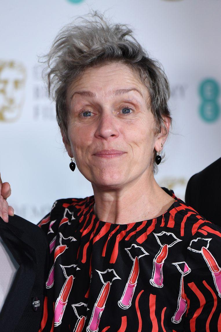 Frances McDormand werd verkozen tot beste actrice.