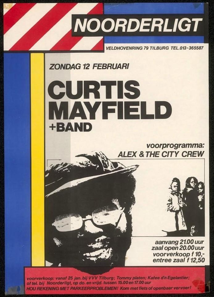Poster van openingsconcert in Noorderligt op 12 februari 1984.