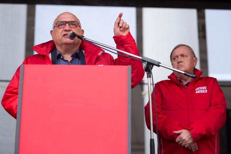 ABVV-voorzitter Rudy De Leeuw.