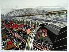 Nijmegenprent laat zien hoe de stad met de Waal leeft