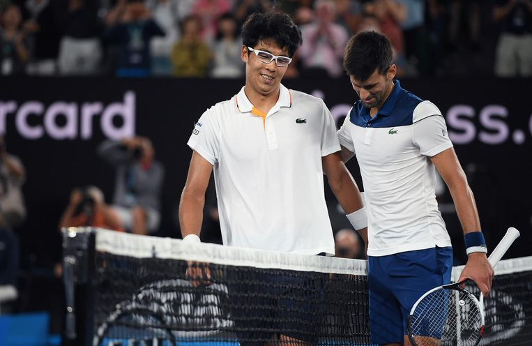 Hyeon Chung versloeg Novak Djokovic. Beeld ap