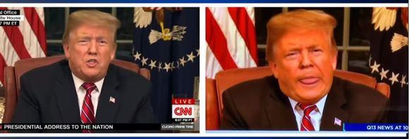 Het lokale nieuwsmedium MyNorthwest.com postte een vergelijkingsvideo om te laten zien wat er live op CNN werd uitgezonden en hoe Q13 met de beelden aan de haal was gegaan.