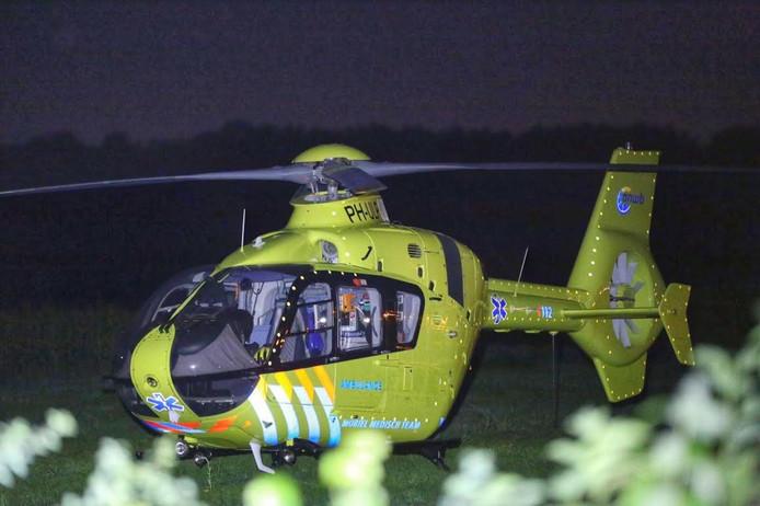 De traumahelikopter kwam ter plekke