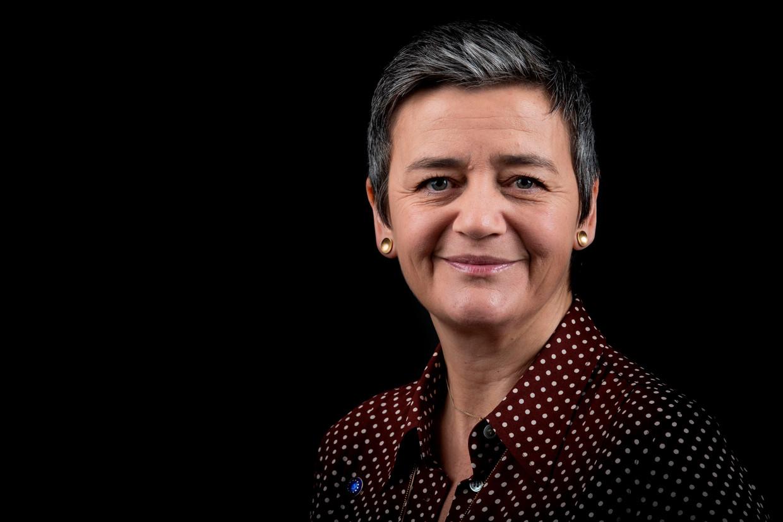 Vice-president van de Europese commissie Margrethe Vestager.  Beeld AFP