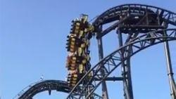 Pretparkbezoekers hangen 20 minuten verticaal in defecte achtbaan