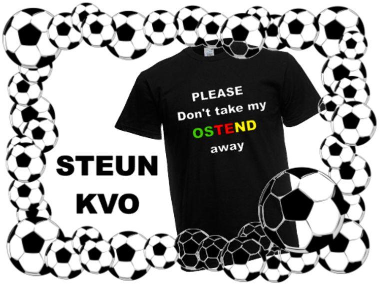 T-shirts ten voordele van KV Oostende.