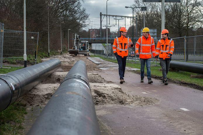 BREDA - Aanleg van stadsverwarming begin 2020 aan de Lunetstraat in Breda.