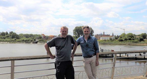 Peter De Ridder en Patrick Poppe van de vzw Kaaimannen.