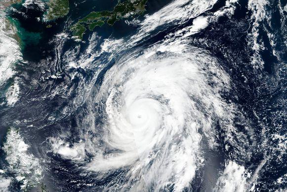 Beeld ter illustratie, naderende tyfoon Hagibis.
