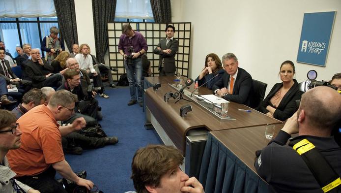 Brinkman vandaag tijdens persconferentie.