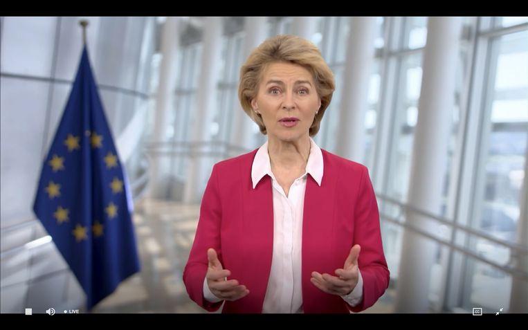 Ursula von der Leyen, voorzitter van de Europese Commissie. Beeld AFP