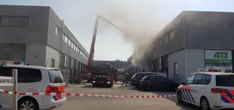 Forse rookontwikkeling bij brand in bedrijf Nijmegen