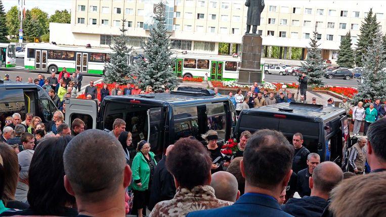 Het Russische nucleaire agentschap Rosatom herdacht maandag de vijf slachtoffers van de ontploffing