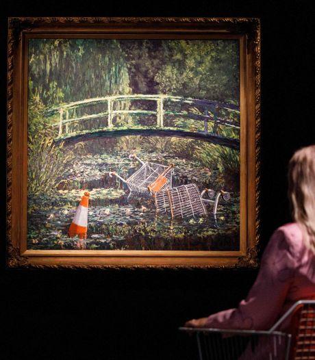 Un tableau de Banksy parodiant les Nymphéas de Monet adjugé à 7,6 millions de livres