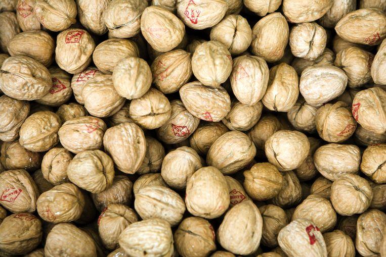 Onder andere walnoten zijn populair bij de wildplukker Beeld anp