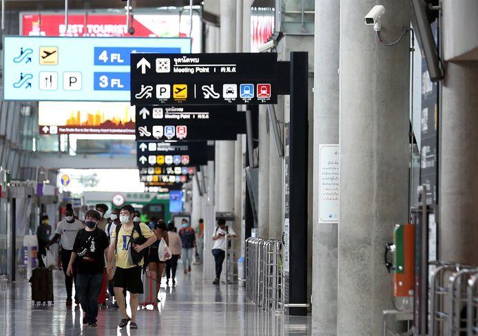 Des voyageurs à l'aéroport de Bangkok (illustration).