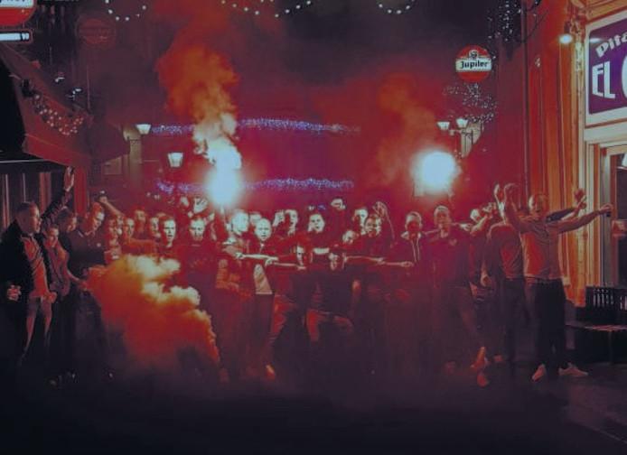 Het eerste FrOnt76-feest, begin december in de Bredase binnenstad.