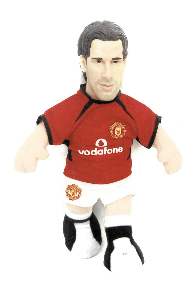 Manchester United-mascotte van Van Nistelrooij. Beeld Manchester United