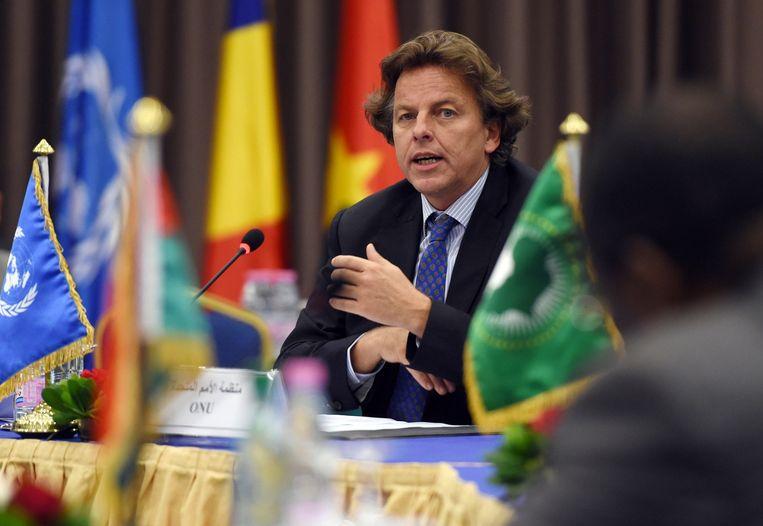 Juni 2014: Koenders in Algerije na een ontmoeting van de ministers van Buitenlandse Zaken van de Sahel. Beeld anp