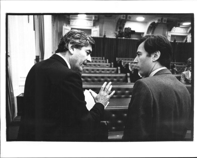 Oktober 1985, samen met Elco Brinkman tijdens de Algemene Beschouwingen. Beeld Jan Everhard