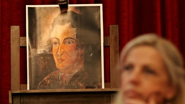Het schilderij van de Italiaanse expressionist Amadeo Modigliani. Beeld ap