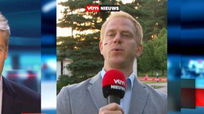 Oeps: VTM-journalist live op tv belaagd door insect