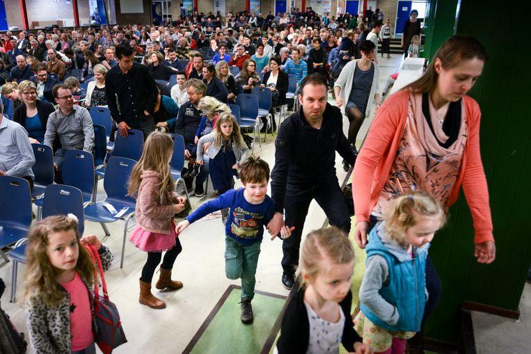 Een van de christelijk-gereformeerde gemeenten die samenwerken met andere kerkgenootschappen is gevestigd in Deventer. Beeld Bram Petraeus
