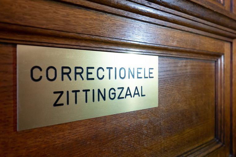 De correctionele zittingzaal in het gerechtsgebouw van Mechelen